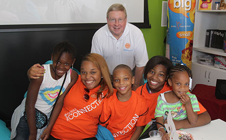 PNC Regional President Paul Clark is active in the bank's Grow Up Great community education program