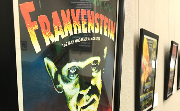 Frankenstein Festival cinema artifacts on display in Ritter Library