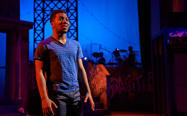 Malik Victorian '16 in In the Heights at Beck Center for Arts (Photo by Roger Mastroianni)