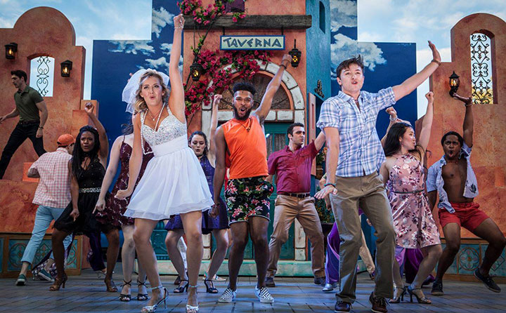 The cast of Mamma Mia!, which moves from the Idaho Shakespeare Festival the Great Lakes Theatre this fall, features 14 BW music theatre students and graduates.