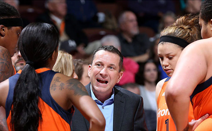 Curt Miller,  head coach and general manager, Connecticut Suns