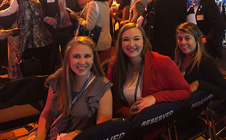 Photo of (left to right) Emma Hubbard, Gwyn Dubel and Alli Zarlinga at the SHRM Annual Conference and Exposition in Chicago