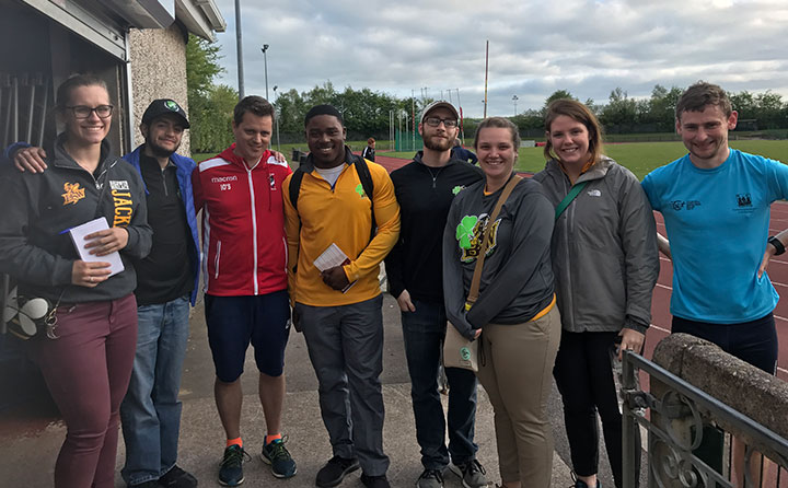 In Cork, Ireland, BW students Erika Nockengost, '18, Peter George, '18, Charlvon Gaston, '20, John Beyer, '19, Sarah Krupp, '19 and Ellen Hawkins, '18 working with coaches from Cork Institute of Techn