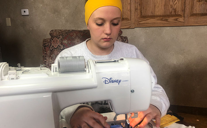 Caitlyn Collins '21 has made a successful transition from reliance on traveling craft shows to online sales, and even added custom products for the pandemic