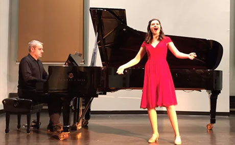 Accomplished vocal performance major Kailyn Martino '20 was chosen to perform for the BW Conservatory of Music's Virtual 2020 Senior Honors Recital.