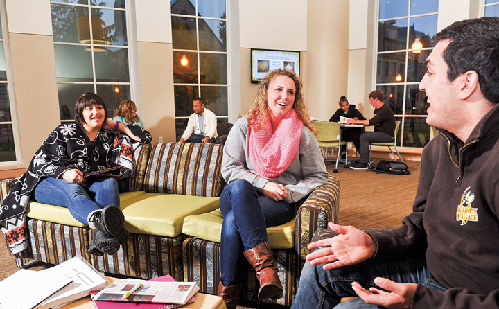 image of students in Davidson Lounge