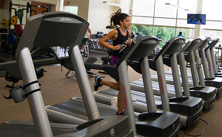 Image of Woman on Treadmill
