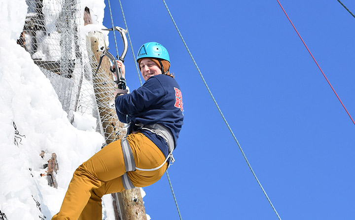 Image of Student Ice Climbing
