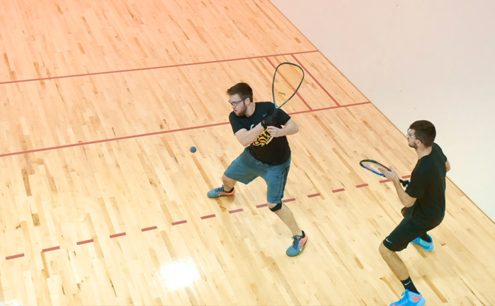 Image of Students Playing Racquetball