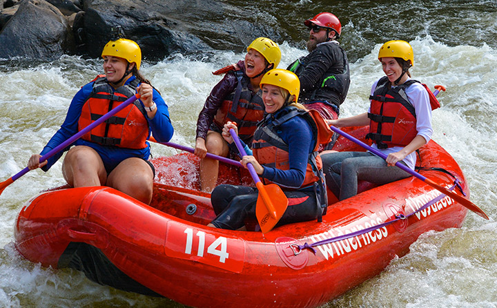 Image of Students Whitewater Rafting