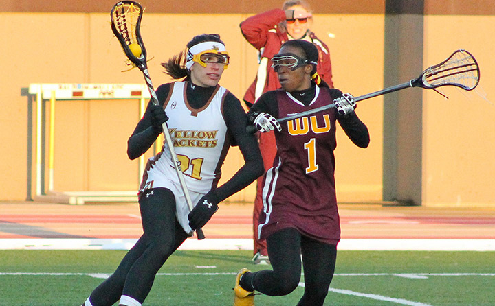 Image of Women Playing Lacrosse