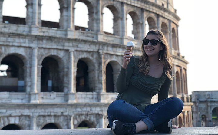 Public relations major Nicole Blair in Rome, Italy