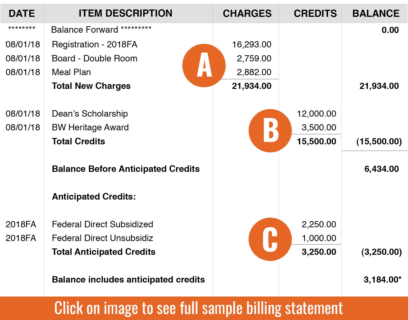 About Your Billing Statement | Baldwin Wallace University