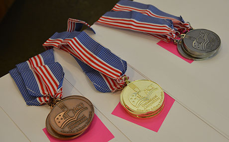 Medals awarded at the ACF-sanctioned culinary competition