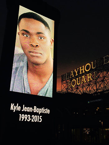 Playhouse Square lights dimmed for Kyle