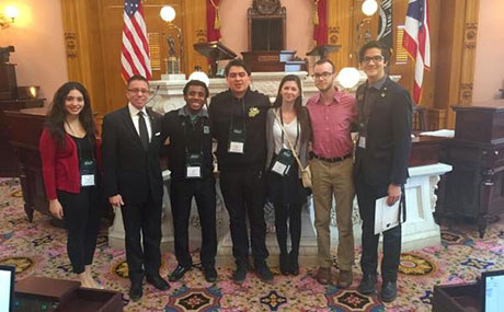 BW Student Government representatives at the Ohio State Capital