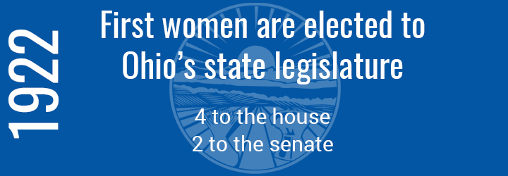 First women elected to Ohio state legislature
