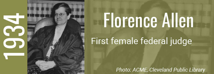 Florence Allen first female federal judge