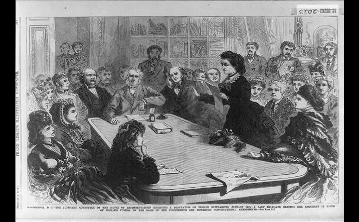Victoria Woodhull before Congress 1871