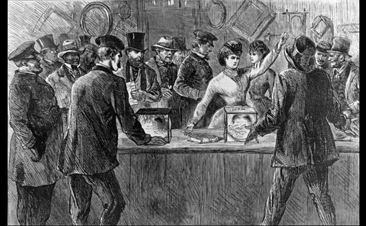 Victoria Woodhull voting